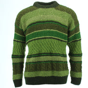 Chunky Wool Multi Knit Jumper - Green