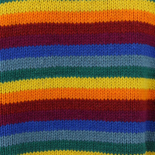 Chunky Wool Knit Jumper - Rainbow