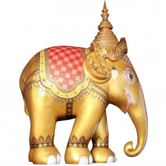 Limited Edition Replica Elephant - Royal Elephant Gold