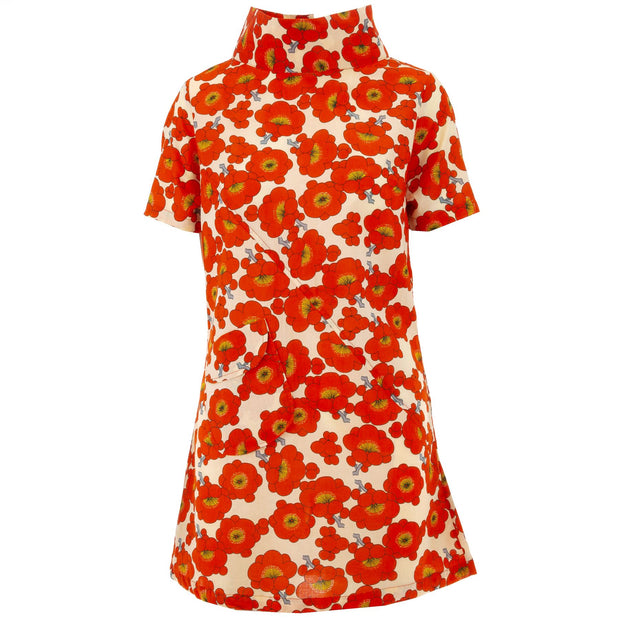 Sixties Shift Dress - Orange Blossom