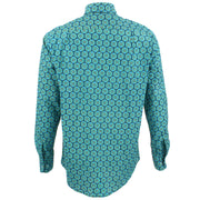 Regular Fit Long Sleeve Shirt - Abstract Fruit Cross Sections