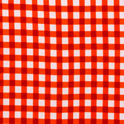Regular Fit Short Sleeve Shirt - Gingham Check - Orange
