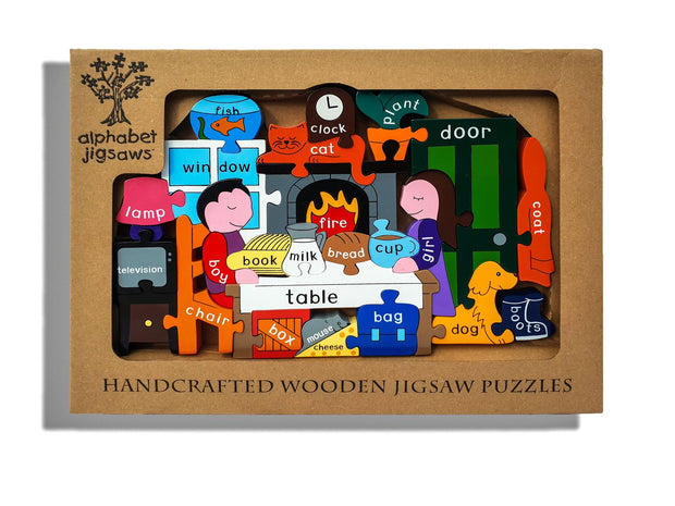 Handmade Wooden Jigsaw Puzzle - At Home