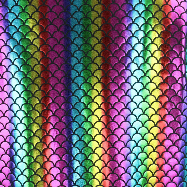 Shiny Mens Mermaid Scale Shorts - Rainbow