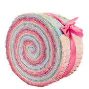 Cotton Batik Pre Cut Fabric Bundles - Jelly Roll - Pastel Pink