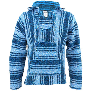 Mexican Baja Jerga Hoody - Light Blue