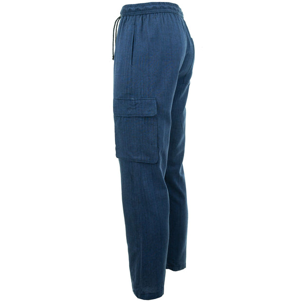 Cotton Combat Trousers Pant - Navy Blue