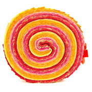 Cotton Batik Pre Cut Fabric Bundles - Jelly Roll - Fire Red