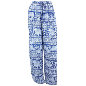 Loose Ali Baba Harem Elephant Trousers Pants - Blue