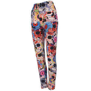 Leggings - Mexican Skulls
