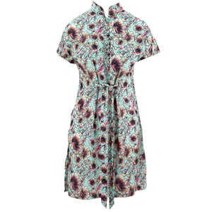 Mandarin Mini Dress - Floral Dawn