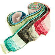 Cotton Batik Pre Cut Fabric Bundles - Jelly Roll - Charcoal Red