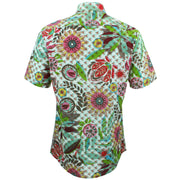 Tailored Fit Short Sleeve Shirt - Transparent Floral