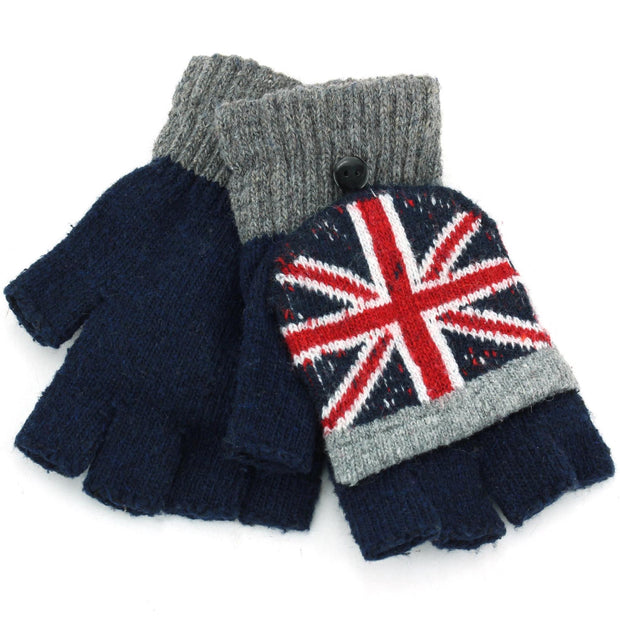 Macahel Union Jack Shooter Gloves - Navy