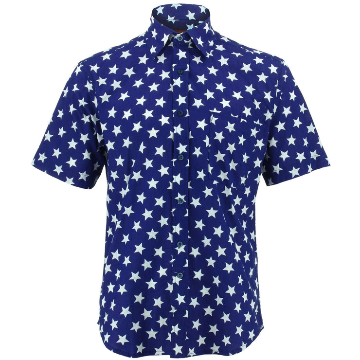 Regular Fit Short Sleeve Shirt - Stars