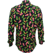 Slim Fit Long Sleeve Shirt - Pineapples