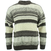 Chunky Wool Multi Knit Jumper - Natural