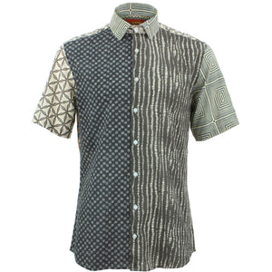 Slim Fit Short Sleeve Shirt - Random Mixed Panel