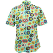 Slim Fit Short Sleeve Shirt - Geometric Floral