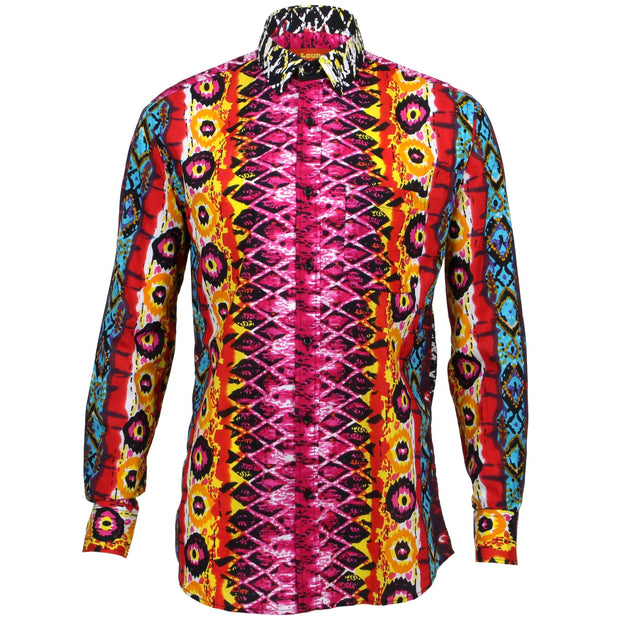 Regular Fit Long Sleeve Shirt - Psychedelic Snakeskin
