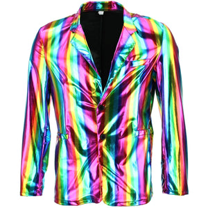 Shiny Metallic Blazer - Rainbow