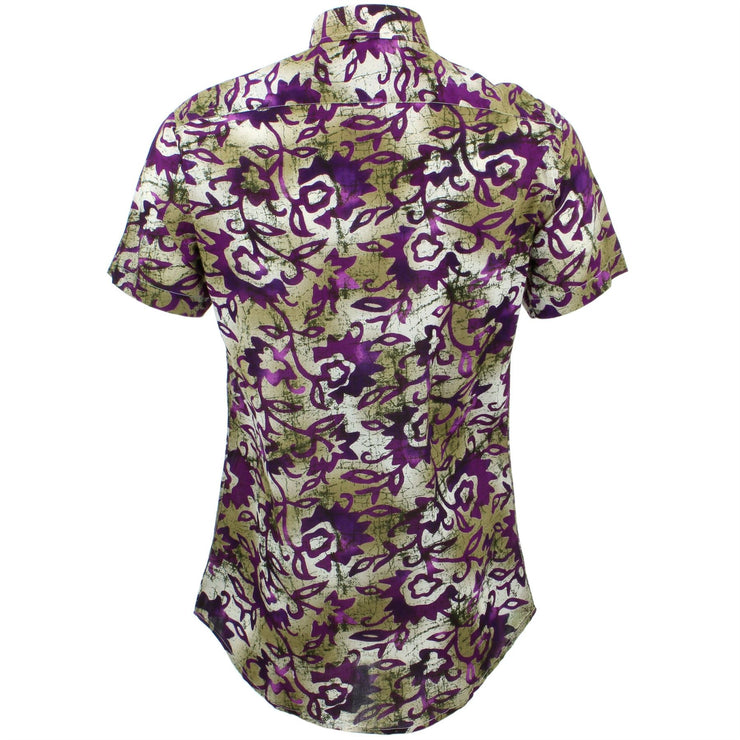 Tailored Fit Short Sleeve Shirt - Floral Blend