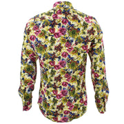 Tailored Fit Long Sleeve Shirt - Green & Blue Abstract Floral
