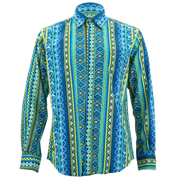Regular Fit Long Sleeve Shirt - Aztec