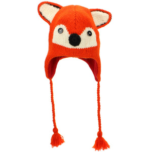 Wool Animal Hat - Fox