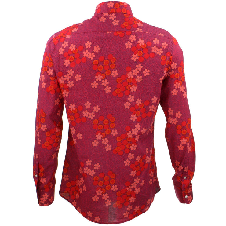Tailored Fit Long Sleeve Shirt - Spiral Garden