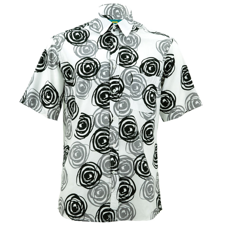 Regular Fit Short Sleeve Shirt - Mono Roses