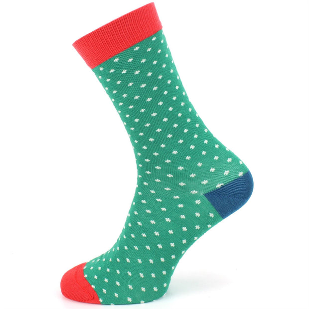 Bamboo Socks - Polka Dots - Green