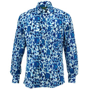 Regular Fit Long Sleeve Shirt - Floral Ikat