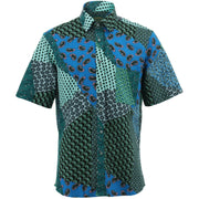 Regular Fit Short Sleeve Shirt - Mixed Paisley
