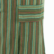 Cotton Combat Trousers Pant - Green Stripe