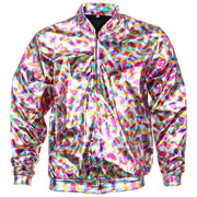 Unisex Shiny Bomber Jacket - Rainbow
