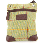 Small Tweed Cross Body Shoulder Bag Handbag - Light Green