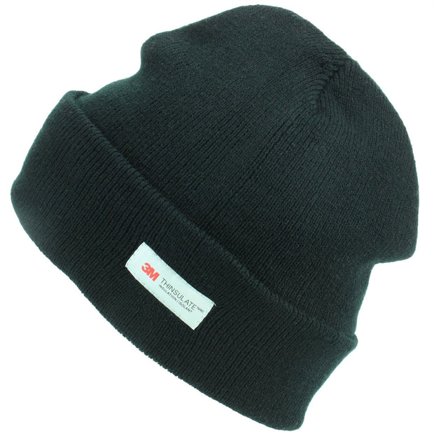 3M Beanie Hat with Fleece Lining - Black