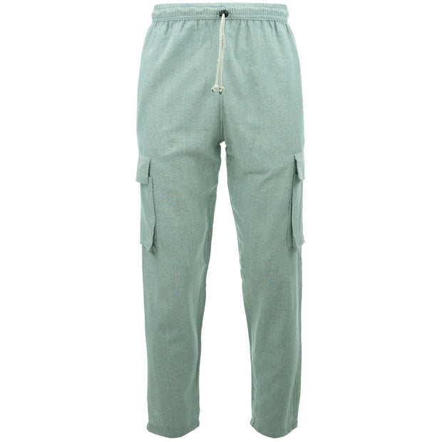 Cotton Combat Trousers Pant - Grey