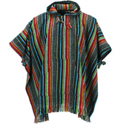 Brushed Cotton Hooded Poncho - Mexican Diamond