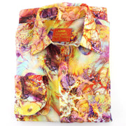 Tailored Fit Long Sleeve Shirt - Yellow Pink & Red Psychedelic