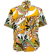 Regular Fit Short Sleeve Shirt - Exotic Vine - Orange