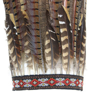 Feather Headdress Headband with Brown Feathers