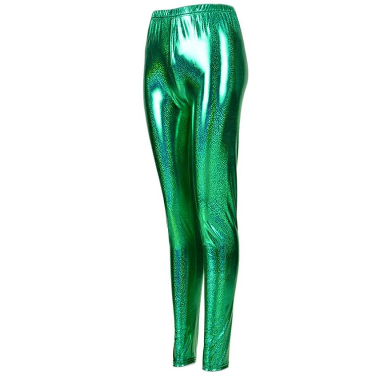 Shiny Leggings - Green
