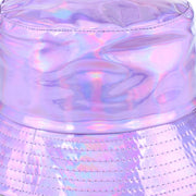 Shiny Metallic Bucket Hat - Purple