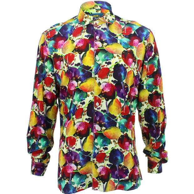 Slim Fit Long Sleeve Shirt - Tulips