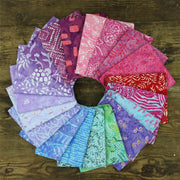 Cotton Batik Pre Cut Fabric Bundles - Fat Quarter - Shades of Purple