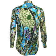 Regular Fit Long Sleeve Shirt - Mosaic Tiles