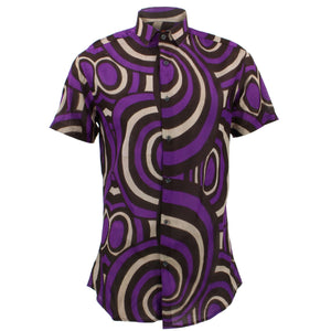 Slim Fit Short Sleeve Shirt - Retro Circles