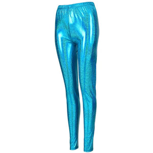 Shiny Leggings - Blue